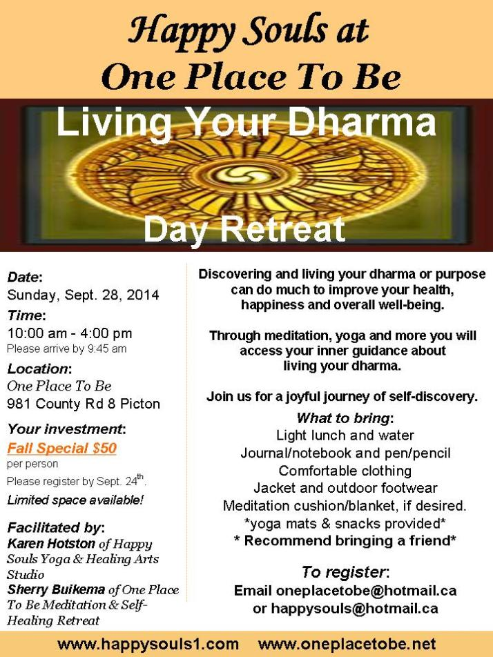 Living Your Dharma Sep 28 2014 Special