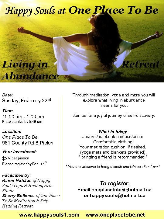 Living In Abundance No. 2 Feb 22 2015